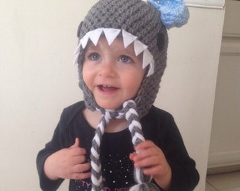 Crochet Shark Beanie/Hat