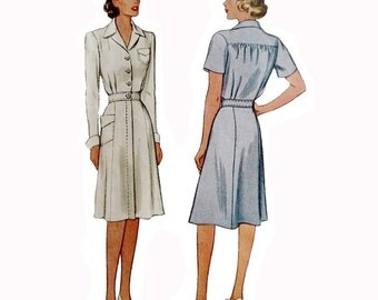1940s Style WWII Nurses Uniform Dress Custom Made in Your Size From a Vintage Pattern
