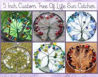 Custom 5 Inch Tree of Life Sun Catcher, Window Ornament, Plant Decoration
