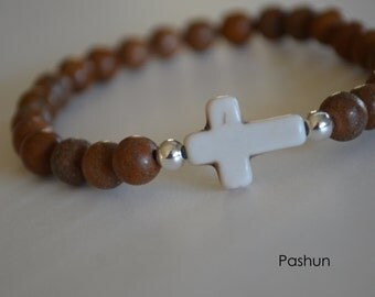 Yoga Stretch Bracelets ... Brown Wood (1374)