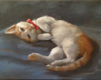 Cat Portrait, Cat Painting, Custom Cat Portrait, Custom Cat Painting, Hand Painted Cat Portraits