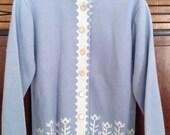 Vintage Knit Blue Sweater