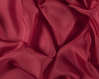 """45"""" Wide 100% Silk Habotai Bright Red-Wholesale by the Yard"""