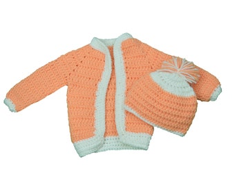 Crochet Baby sweater with hat