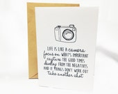 Inspirational Card - Life Is Like A Camera Quote Graduation Card