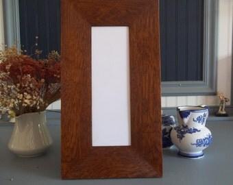 """Arts & Crafts Mission Quarter Sawn Oak 3"""" wide 4"""" X 12"""" Tile Frame Fits Motawi Handcrafted/ Handmade"""