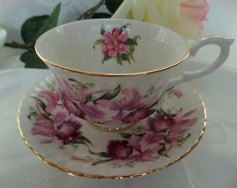 Paragon Teacup -- Paragon Tea Cup -- Orchids -- English Teacup -- Bridal Party -- Tea Party -- Serving