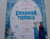 Frozen Invitation, Birthday  Invitation, Frozen Birthday, Frozen Invite, Elsa Invitation, Frozen Party, Frozen Birthday Party