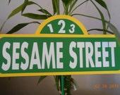 Sesame Street Sign Centerpiece-Sesame Street Centerpiece-Sesame Street Birthday-Sesame Street Decoration-Sesame Street Party