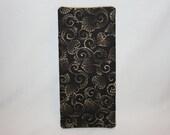 Magic Wallet, Money Wallet, Server, Waiter, Waitress, Billfold - Black, Taupe Leaf Print