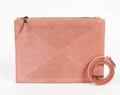 Cut out - Cross body bag /  Clutch -  pink