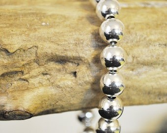 Bead Bracelet - Sterling Silver