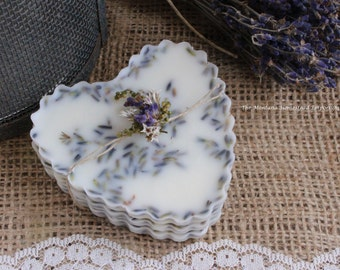 Lavender Premium beeswax melting tarts soy and beeswax tarts french country lavender flowers aromatherapy stress free heart valentines day