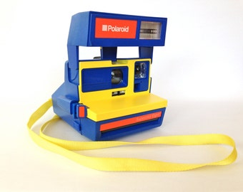Polaroid Supercolor Esprit instant camera red yellow blue