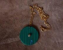 Glow in the dark Bilbo Hobbit door necklace. Bag End.