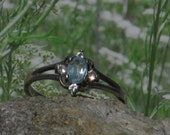 Sterling silver topaz ladies / womens ring