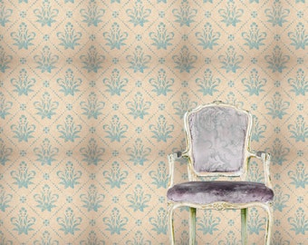 Removable Wallpaper- Monarchy- Peel & Stick Self Adhesive Fabric Temporary Wallpaper-Repositionable-Reusable- FAST. EASY.