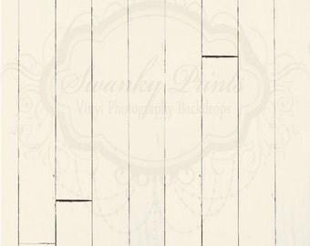SWANKY PRINTS ORIGINAL 2ft x 2ft Vinyl Photography Backdrop / Cream Wood