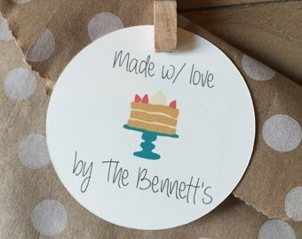 Customizable Made w/ Love Gift Tags ~ set of 12