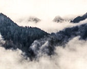 Blue Mountains, Cascades, Washington State, Top of the Mountain, Clouds 12 x 18 Fine Art Photography