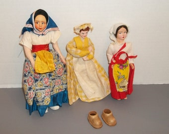 Lot of 3 Vintage Dolls
