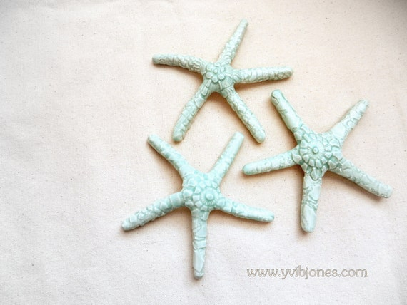 Sale Beach Home Decor Starfish Wall Hanging Mint Color