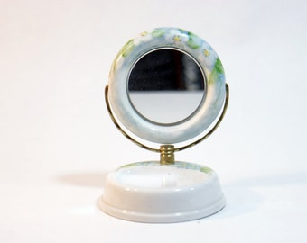 Mirror Vanity Small Vintage Dresser Tray Ornate Set Brass Bathroom Bedroom Decor Ideas
