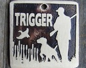 Hunting Partners Dog Tag - 1.25 inch Square Brass Pet Tag
