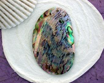 Paua Shell Pendants, Abalone Shell Pendants, Natural Undyed Shell Pendants, Shell PendantsSHL-062-16
