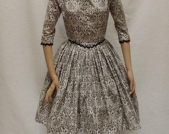 Vintage Dress Jonathan Logan 1950s Swing Dress