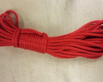 "Bondage Rope - 1/4"" Solid Braid MFP - Soft  (30ft bundle) - For Shibari 6mm"