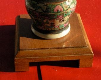 60s Light to Medium Wood Laminated Top Pedestal for REPURPOSE