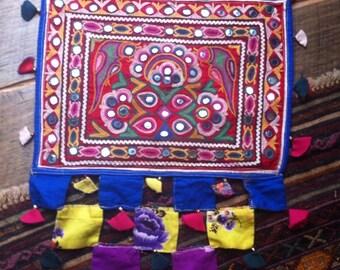 Vintage Handmade Banjara Textile Toran/Wall Hanging