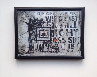 Berlin Graffiti Berlin Photography Berlin Wall (with frame)