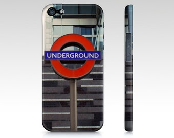 London Phone Case for iPhone /Samsung Galaxy. Underground subway sign in London, England
