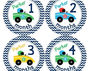 PERSONALIZED Monthly Baby Sticker Baby Month Sticker Baby Boy Monthly Sticker Monthly Baby Sticker Boy Baby Shower Prop Milestone
