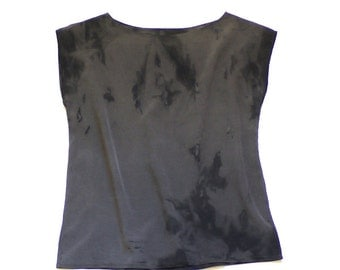 Natural Dye Silk blouse - Soot