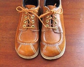 Vintage brown leather wedge Kinney Shoes womens size 6