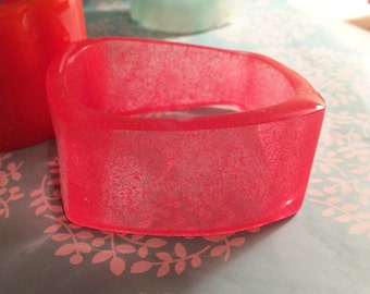 Strawberry Fizz Square Shaped Resin Bangle