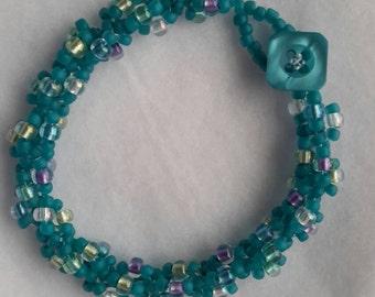 8 inch hand beaded bracelet