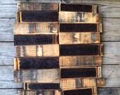 Bourbon Barrel Cut Offs (Scrap wood, White Oak, Black, Staves, Decor, Material, Art Supplies)