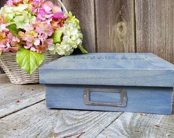 Weathered Gray - Rustic Storage Box - Letter Box- Organizer - Keepsake Box