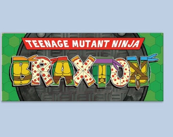 Personalized TMNT Name Print Larger size- Digital File