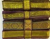 Gold Brocade Sari borders, SR177