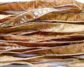 MIxed set of Silk Ribbons, Bracelet ribbons, W353