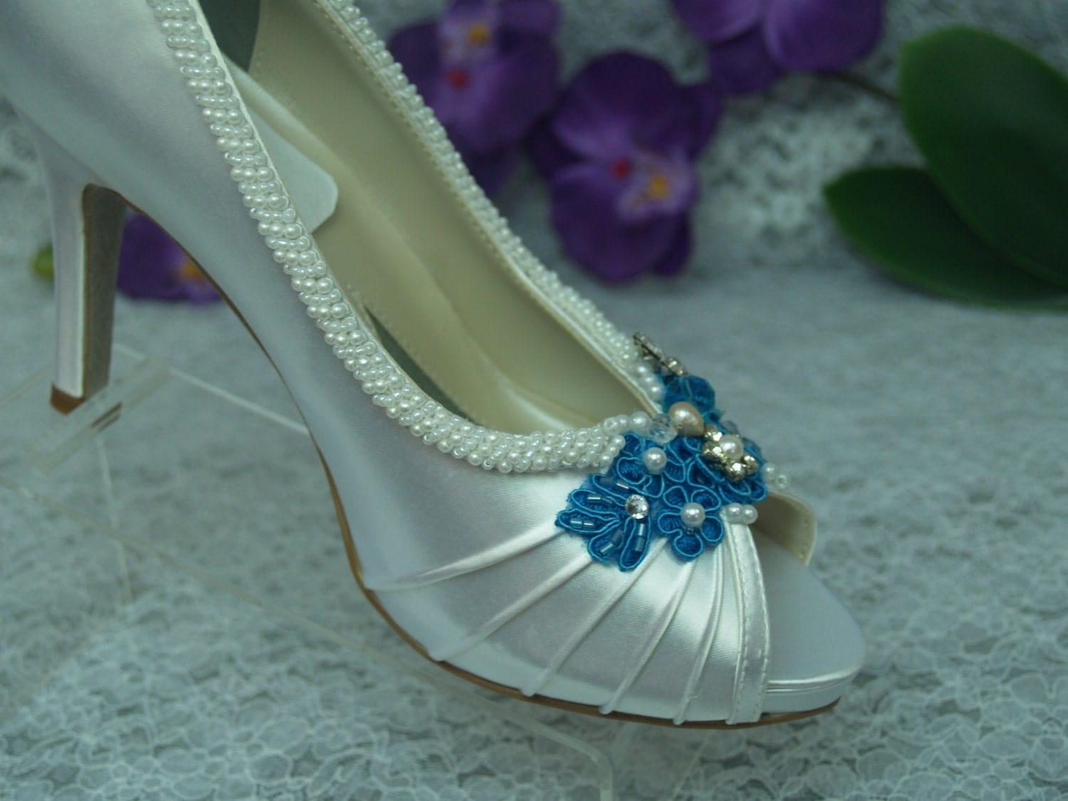 Turquoise Wedding Heels: Wedding Shoes Turquoise Blue High Heels Brides By NewBrideCo