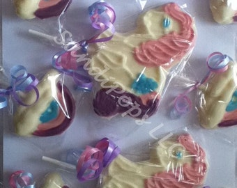 24 My Pony and rainbow Lollipop favors