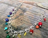 Seven Chakra Necklace in Silver