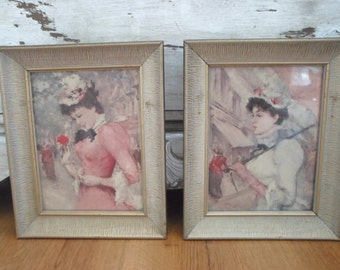 2 Mid Century Southern Belle Framed Prints Impressionist style by Reliance Industries