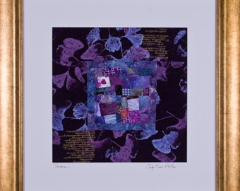 PROVENCE: A Framed Fine Art Quilt Collage Signed by the Artist
